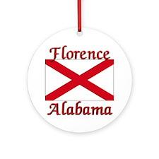 Florence Alabama Ornament (Round)