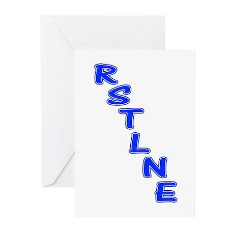 RSTLNE Diag Greeting Cards (Pk of 10)