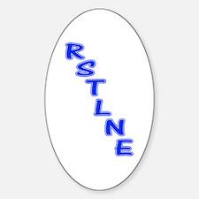 RSTLNE Diag Oval Decal