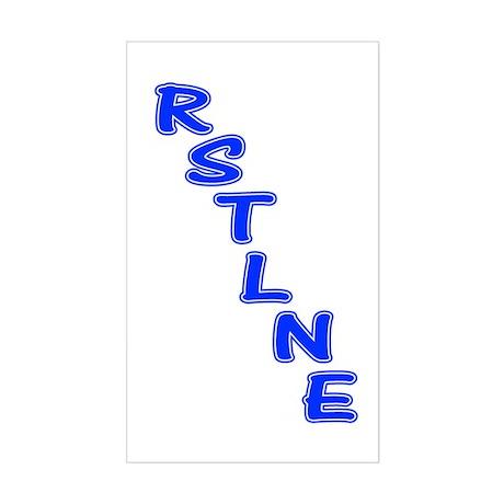 RSTLNE Diag Rectangle Sticker