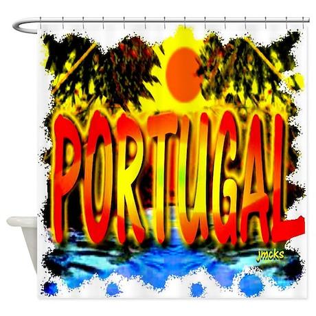 portugal holiday tillustration art Shower Curtain