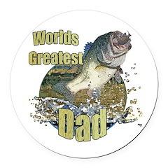 World's greatest dad Round Car Magnet