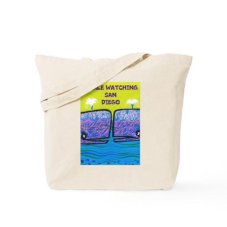 Whale watching SAN DIEGO Tote Bag