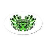 Non hodgkins lymphoma Oval Car Magnets
