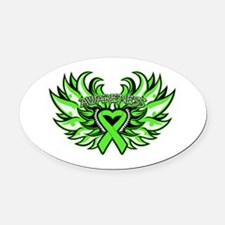 Non-Hodgkins Lymphoma Wings Oval Car Magnet