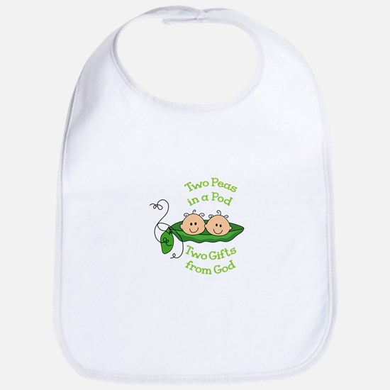 TWO GIFTS FROM GOD Baby Bib
