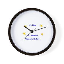 Women's History Month Wall Clock