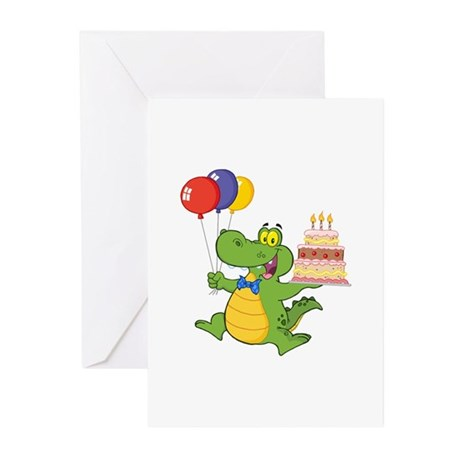 Alligator Happy Birthday Greeting Cards (Pk of 20)