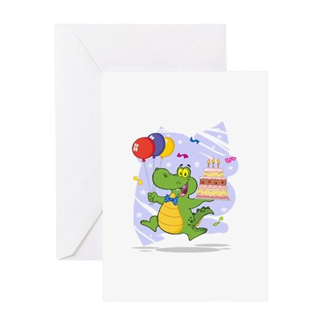 Alligator Happy Birthday Greeting Card