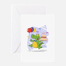 Alligator Happy Birthday Greeting Card