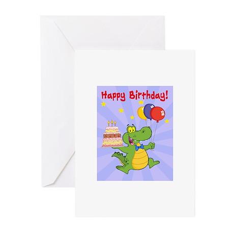 Alligator Happy Birthday Greeting Cards (Pk of 10)