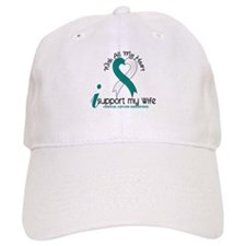With All My Heart Cervical Cancer Baseball Cap
