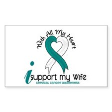 With All My Heart Cervical Cancer Decal