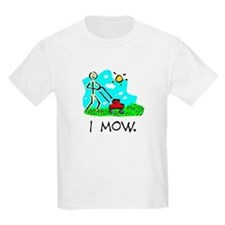 I Mow Kids Shirt