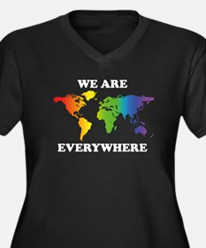 Gay Pride Women's Plus Size V-Neck Dark T-Shirt
