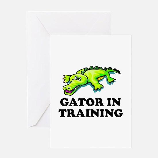 Gator In Training Greeting Card