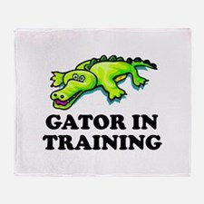 Gator In Training Throw Blanket