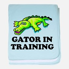 Gator In Training baby blanket