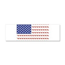 USA Patriotic Cat Flag Car Magnet 10 x 3