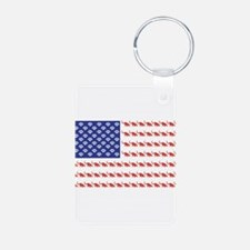 USA Patriotic Cat Flag Keychains