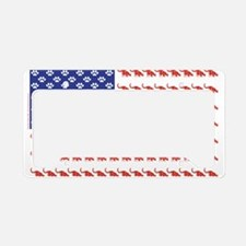 USA Patriotic Cat Flag License Plate Holder