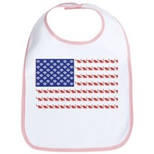 USA Patriotic Cat Flag Bib