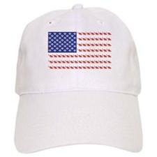 USA Patriotic Cat Flag Baseball Baseball Cap