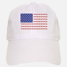 USA Patriotic Cat Flag Baseball Baseball Cap