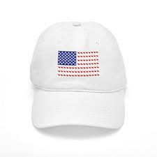 USA Patriotic Cat Flag Baseball Cap