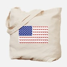 USA Patriotic Cat Flag Tote Bag