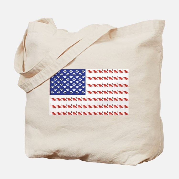 USA Patriotic Cat Flag Tote Bag