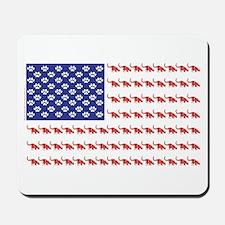 USA Patriotic Cat Flag Mousepad