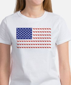 USA Patriotic Cat Flag Tee