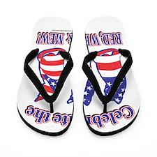 USA/Patriotic Kitty Cats Flip Flops