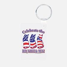 USA/Patriotic Kitty Cats Keychains