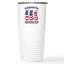 USA/Patriotic Kitty Cats Travel Mug