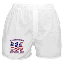 USA/Patriotic Kitty Cats Boxer Shorts
