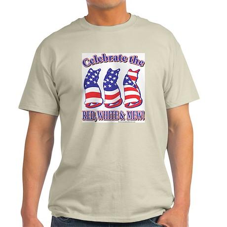 USA/Patriotic Kitty Cats Light T-Shirt