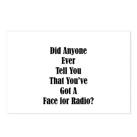 Radio Face Postcards (Package of 8)