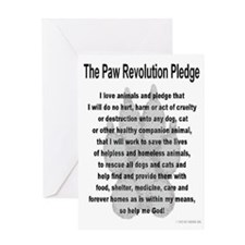 The Paw Revolution Pledge Greeting Card