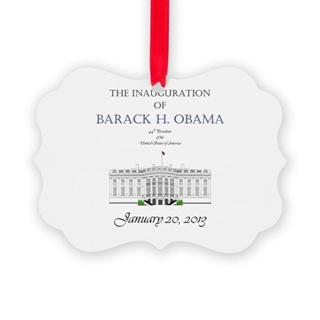 Inauguration of Barack H. Obama 2013 Picture Ornam