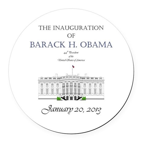 Inauguration of Barack H. Obama 2013 Round Car Mag