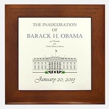 Inauguration of Barack H. Obama 2013 Framed Tile