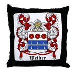 Weiher Coat of Arms Throw Pillow