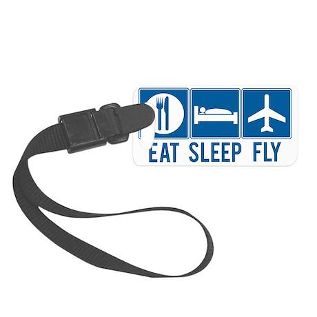Eat Sleep Fly Luggage Tag - Small
