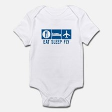 Eat Sleep Fly Baby Bodysuit