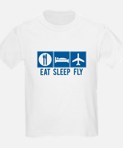 Eat Sleep Fly Kids Shirt