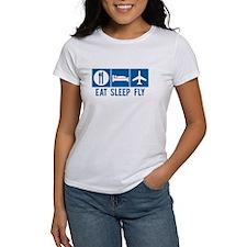 Eat Sleep Fly Women's Shirt