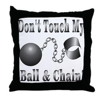 Ball and Chain ALREADY Throw Pillow