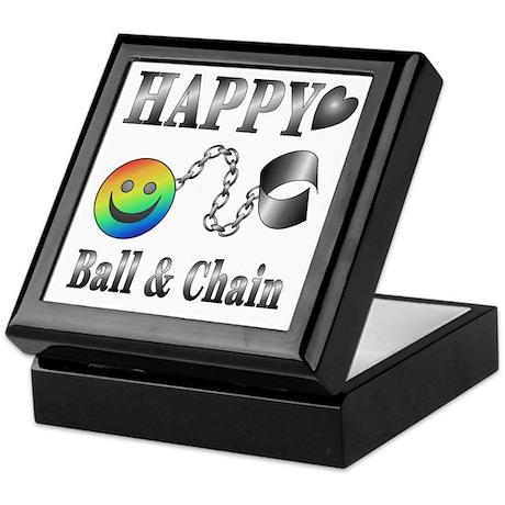 Ball and Chain HAPPY Keepsake Box